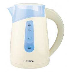 Чайник электрический HYUNDAI HYK-P2030 кремовый (1,7л./2200Вт/диск)