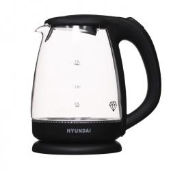 Чайник электрический HYUNDAI HYK-G1001 стекло (1,7л./2200Вт/диск)