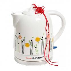 Чайник электрический ENDEVER Skyline KR-430C керамика (1.7 л/1600Вт/диск) белый/рисунок