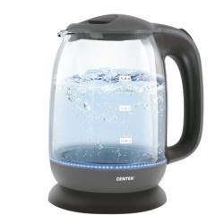 Чайник электрический Centek СТ-0023 Blue металл, двойные стенки (2.0л./2000Вт/диск)