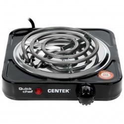 Плита электрическая Centek CT-1508 черный (1 конфорка, 1000Вт)