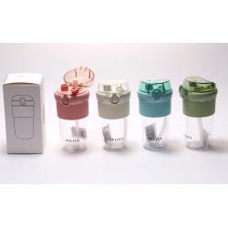 Бутылка силиконовая 600мл Squeezе складная КОКОС 207080 разноцветная