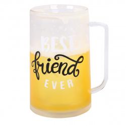 Кружка пластиковая 400мл охлаждающие стенки  Beer КОКОС 203743