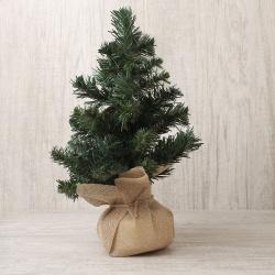 Елка 30см, тип хвои ПВХ, цвет зеленый, подставка дерево ЛЬДИНКА 200041