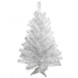 Ёлка Метелица 30см, тип хвои ПВХ, цвет белый, подставка пластик Morozco 1003