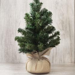 Елка 40см, тип хвои ПВХ, цвет зеленый, подставка дерево Сказка ЛЬДИНКА 200041