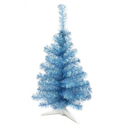 Ёлка 50см, тип хвои ПВХ, цвет голубой, подставка пластик Morozco 0705