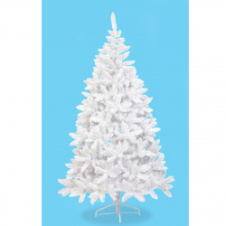 Ель Platinum 190см, тип хвои ПВХ, подставка металлическая, цвет белый Beatrees 1010619