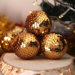Гирлянда светодиодная нить Золотой шар 10л 2,5м на батарейках постоянное свечение ЛЬДИНКА 200233  теплый белый