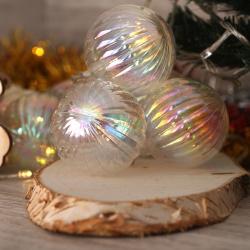 Гирлянда светодиодная нить Перламутровый шар 10л 2,5м на батарейках постоян свечение ЛЬДИНКА 200236 теплый белый