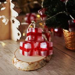 Гирлянда светодиодная нить Подарки 20л 4м 8 режимов Morozco Э221001  холодный белый