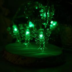 Гирлянда светодиодная нить Елочки 40л 5м от сети 220В 8 режимов Morozco Э231801 зеленый