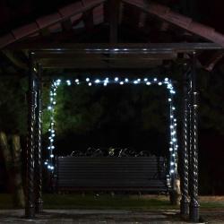 Гирлянда светодиодная нить 72л LED 10м уличная от сети 250В постоянное свечение ЛЬДИНКА 183559  холодный белый