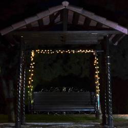 Гирлянда светодиодная нить 72л LED 10м  уличная от сети 250В постоянное свечение ЛЬДИНКА 183560 теплый белый