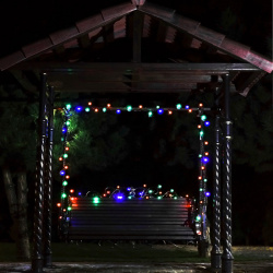 Гирлянда светодиодная нить 72л LED 10м уличная от сети 250В мигание ЛЬДИНКА 183561 ЛЬДИНКА мультиколор