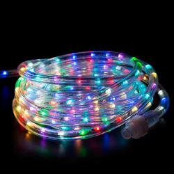 Украшение светодиодное LED Дюралайт шнур 24 лампы 10м 8 режимов ЛЬДИНКА 185704/1 мультиколор