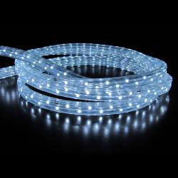 Украшение светодиодное LED Дюралайт шнур 24 лампы 10м 8 режимов ЛЬДИНКА 185704/3 холодный белый