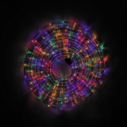 Украшение светодиодное LED Дюралайт шнур 24 лампы 20м 8 режимов ЛЬДИНКА 185705/1 мультиколор