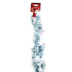 Мишура d-5см 2м со снежинками ЛЬДИНКА 203460 голубая