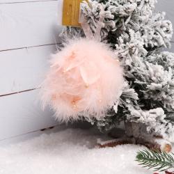 Украшение Адажио 10см пенопласт пух ЛЬДИНКА 201043 розовый