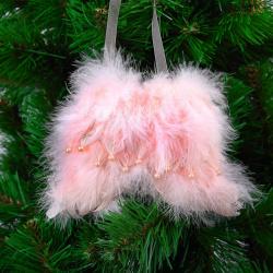 Украшение Адажио 12см пенопласт пух ЛЬДИНКА 201045 розовый