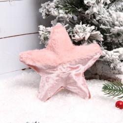 Украшение Velvet 12см пенопласт мех ЛЬДИНКА 201048 розовый