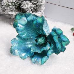 Украшение Цветок 20см ЛЬДИНКА 183463/1/EY18404 бирюзовый