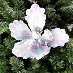 Украшение Цветок 20см ЛЬДИНКА 183465/2/EY18404 белый