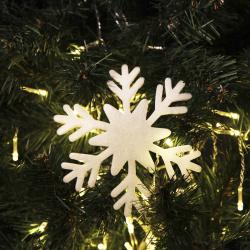 Набор украшений Снежинки, 15см, 6шт, пенопласт, цвет белый ЛЬДИНКА 180436-Y686-2