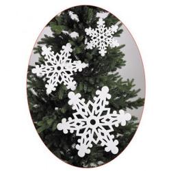 Набор украшений Снежинки, ассорти, 3шт, пенопласт, цвет белый ЛЬДИНКА 180041-2