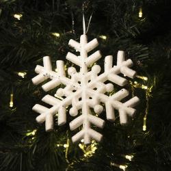 Украшение Снежинки, 20см, пенопласт, цвет белый ЛЬДИНКА 180035-1