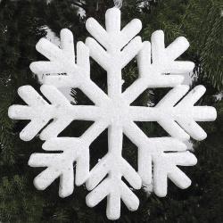 Украшение Снежинки, 24см, пенопласт, цвет белый ЛЬДИНКА 180039-2