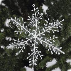 Набор украшений Снежинки d-25см 2шт ПВХ ЛЬДИНКА 170785/7 голография белый