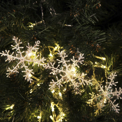 Набор украшений Снежинки, 26см, 2шт, ПВХ, цвет белый ЛЬДИНКА 170785-8