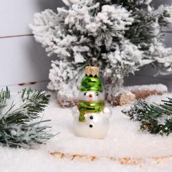 Украшение Фигура Снеговик 6см стекло А8