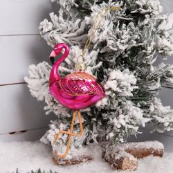 Украшение Фигурка Flamingo 12см стекло ЛЬДИНКА 200200