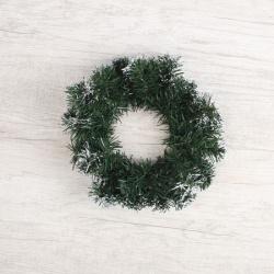 Венок новогодний d-25см Заснеженный ЛЬДИНКА 170721 зеленый
