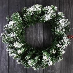 Венок новогодний d-40см Заснеженный  ЛЬДИНКА 170719 зеленый
