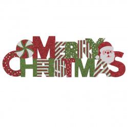 Плакат Merry Christmas 40см бумага НИКА V384_2