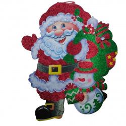Плакат фигурный 40см Дед Мороз объемный ЛЬДИНКА 185288