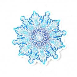 Плакат фигурный 11см Снежинка глянц лам выб лак блест Мир открыток 7-66-5168А