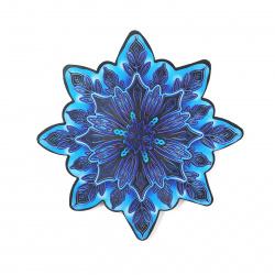 Плакат фигурный 17см Снежинка глянц лам метализ Мир открыток 7-75-5011А