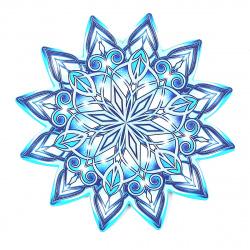 Плакат фигурный 17см Снежинка глянц лам выб лак блест Мир открыток 7-65-5042А