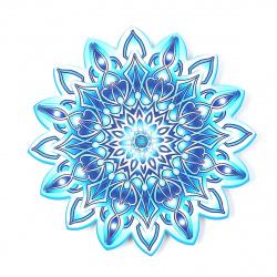 Плакат фигурный 18см Снежинка глянц лам выб лак блест Мир открыток 7-65-5041А