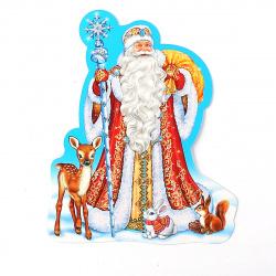 Плакат фигурный 18см глянц лам выб лак блест Мир открыток 7-65-5048А