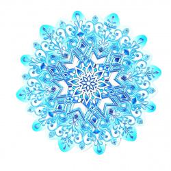 Плакат фигурный 25см Снежинка глянц лам выб лак блест Мир открыток 7-64-5031А
