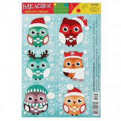 Набор наклеек 10*15 Новогодние Русский дизайн 41928