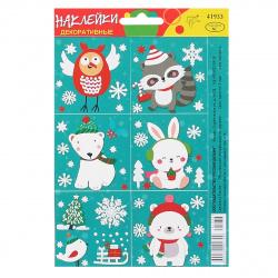 Набор наклеек 10*15 Новогодние Русский дизайн 41933