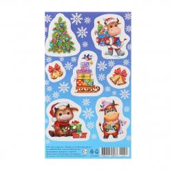 Набор наклеек 9*15 (год Быка) Мир открыток 0-11-5119А