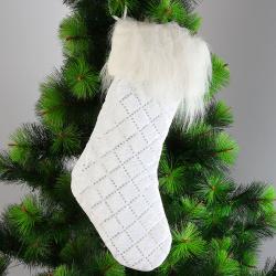 Мешок для подарков Носок 47см ЛЬДИНКА 203253 белый